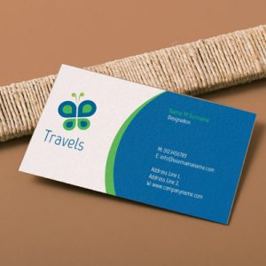 single sided business card